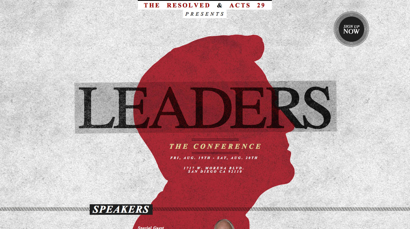 Leaders – The Conference Website Screenshot