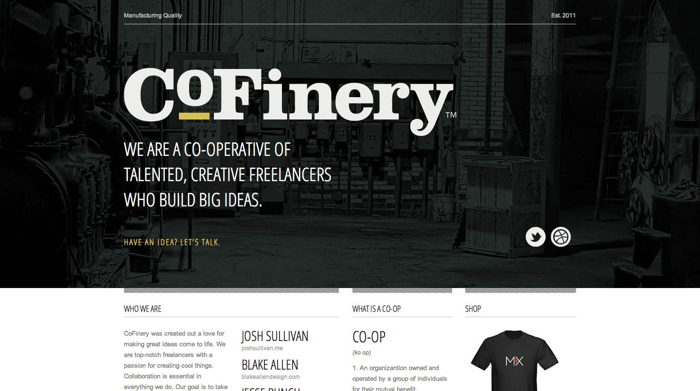 CoFinery Website Screenshot