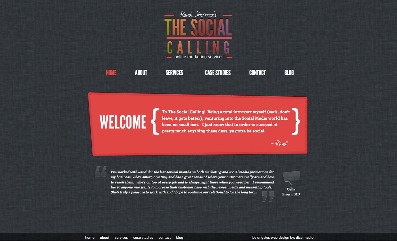 The Social Calling Website Screenshot
