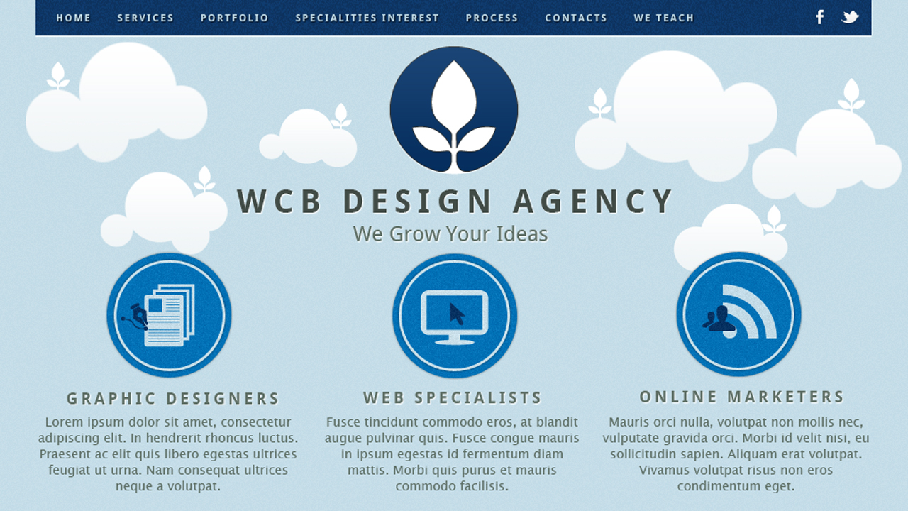 WCB Design Agency Website Screenshot