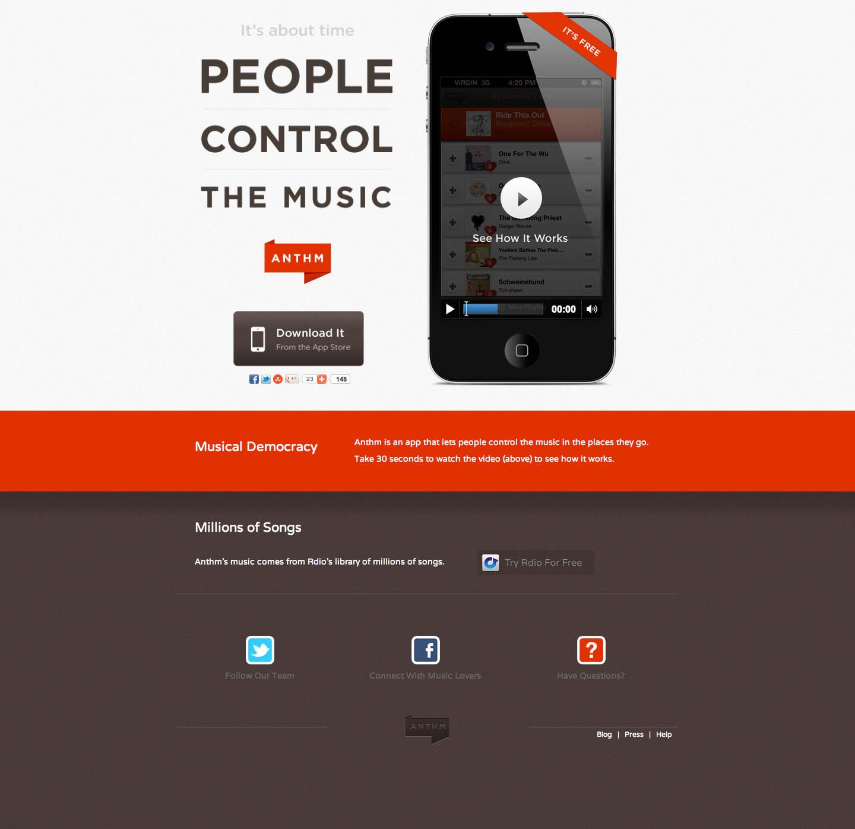 Anthm Website Screenshot