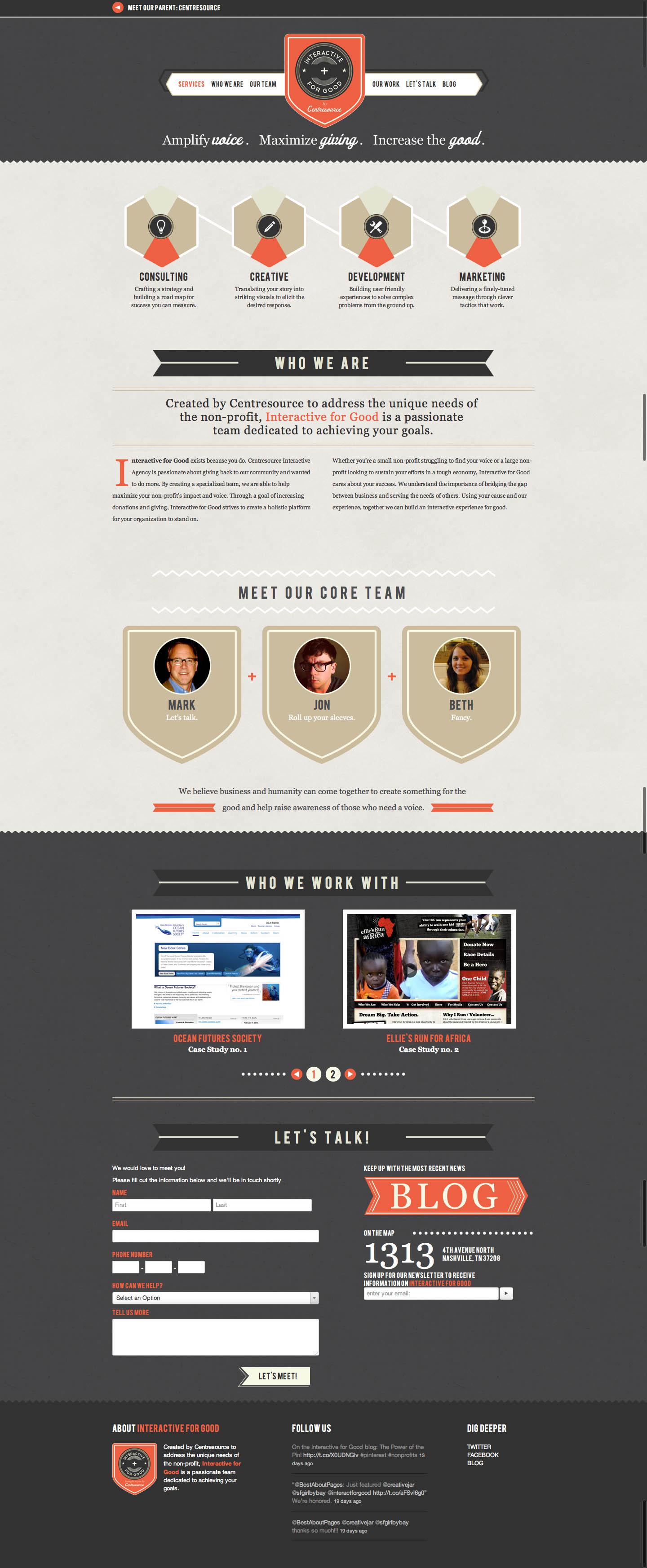 Interactive for Good Website Screenshot