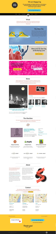 Happy Cog Website Screenshot