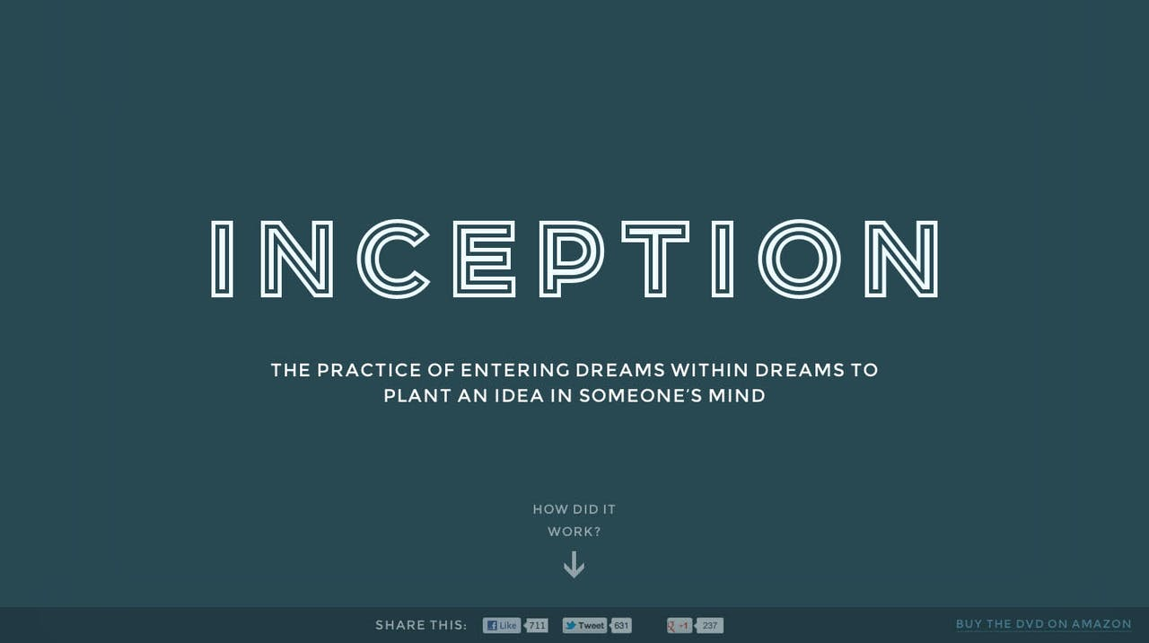 Inception Explained Website Screenshot