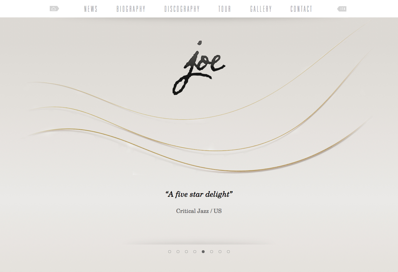 Joe Barbieri Website Screenshot