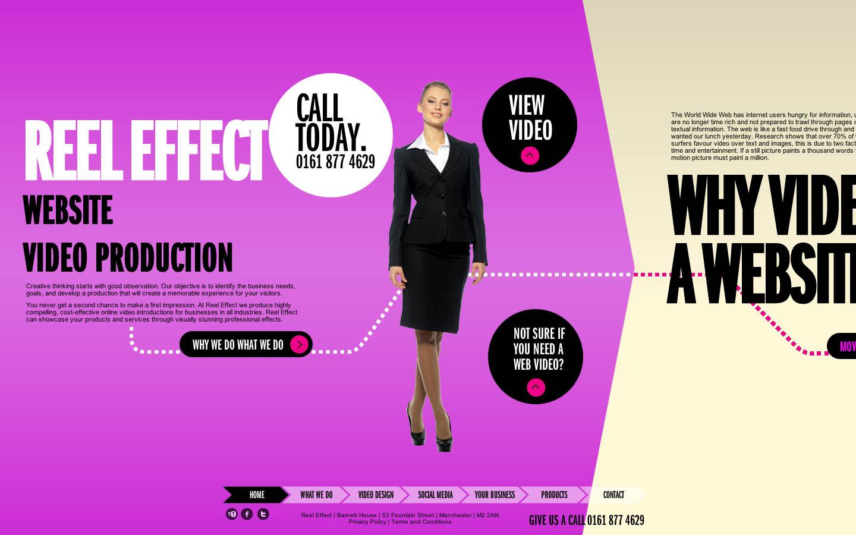 Reel Effect Website Screenshot