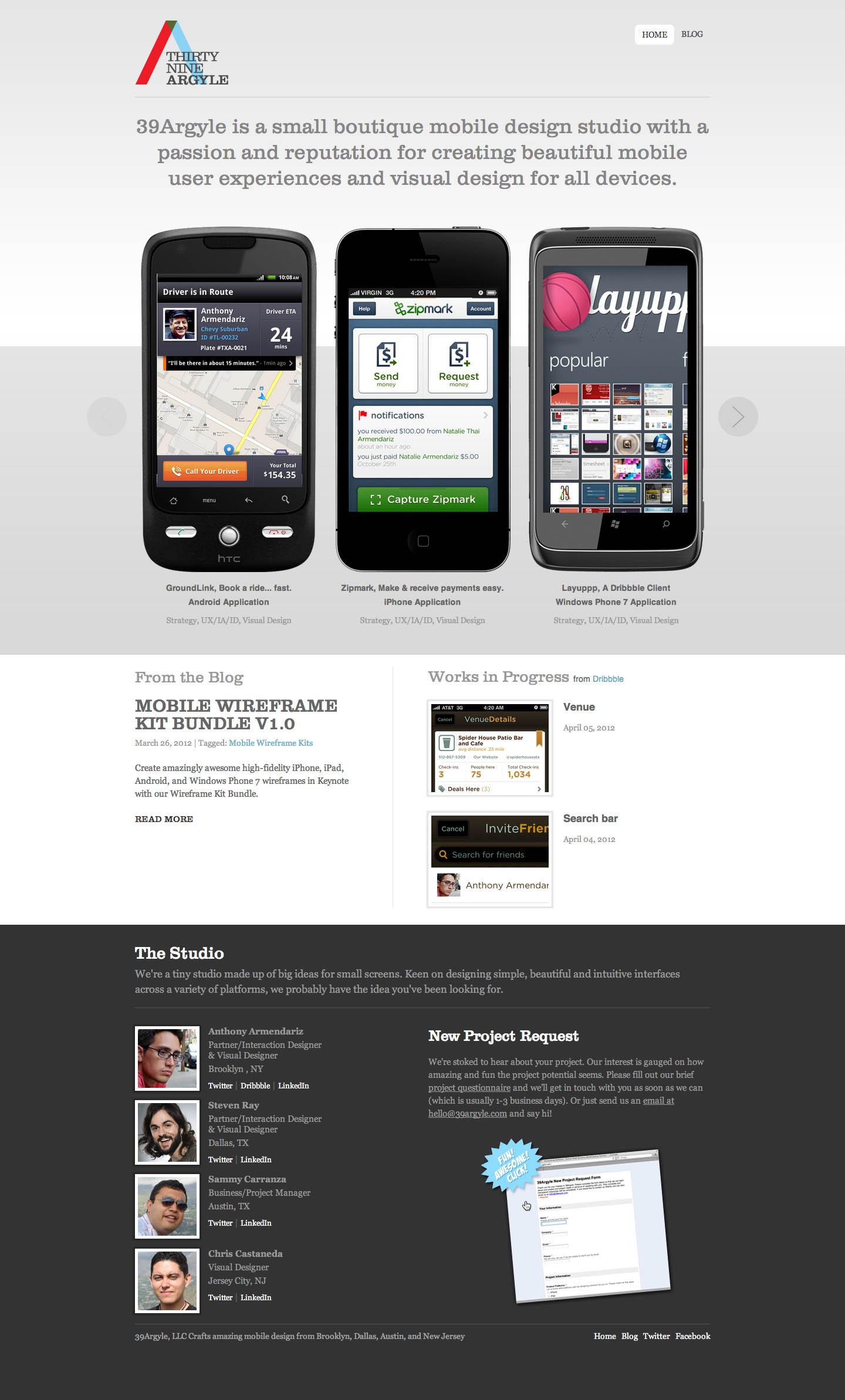 39Argyle Website Screenshot