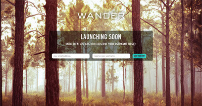 Wander Website Screenshot