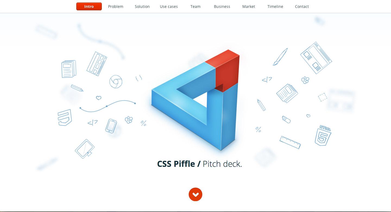 CSS Piffle Pitch Deck Website Screenshot