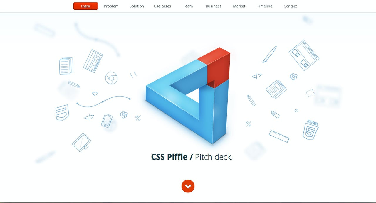 CSS Piffle Pitch Deck Website Screenshot