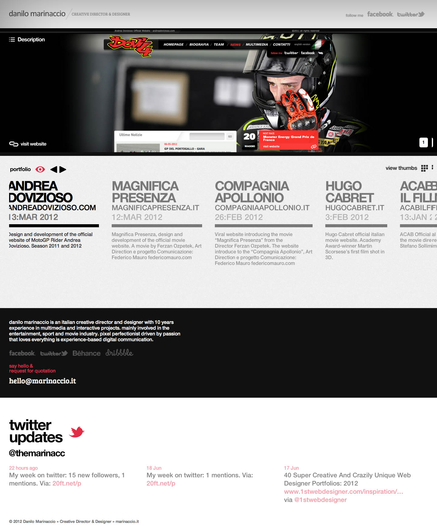 Danilo Marinaccio Website Screenshot
