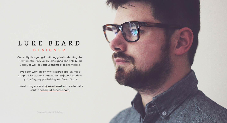 Luke Beard Website Screenshot