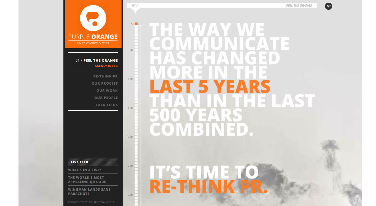 Purple Orange Website Screenshot