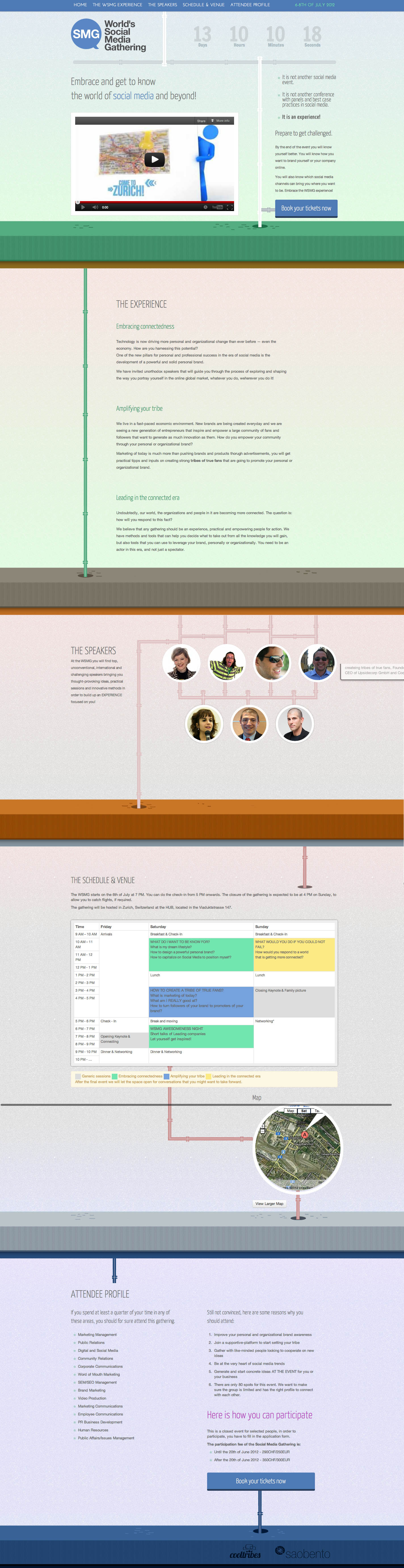 World's social media gathering Website Screenshot