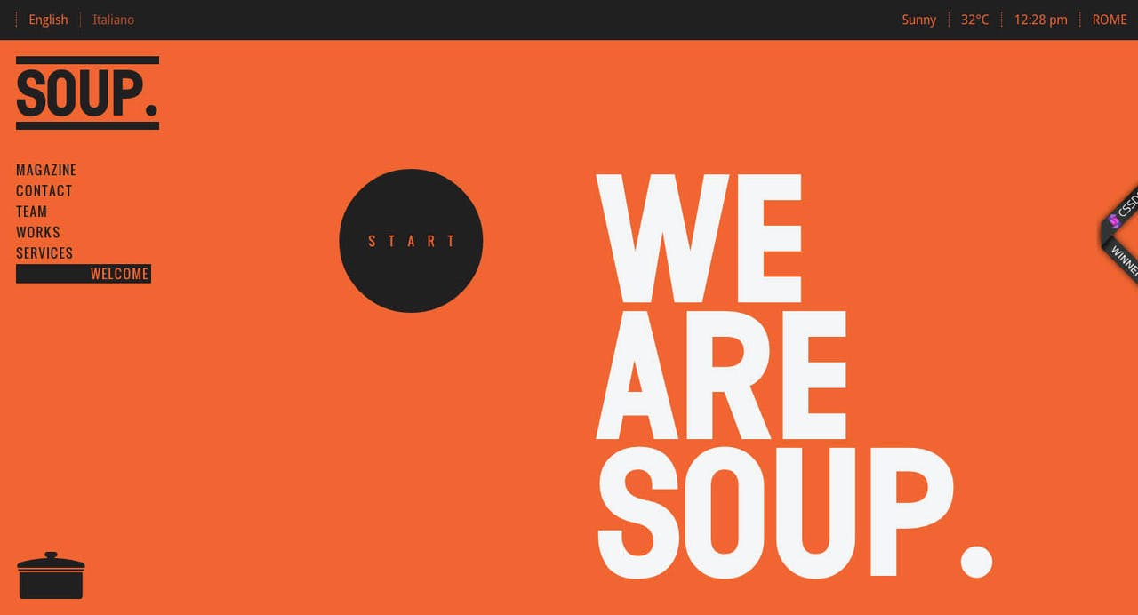 SOUP. Agency Website Screenshot