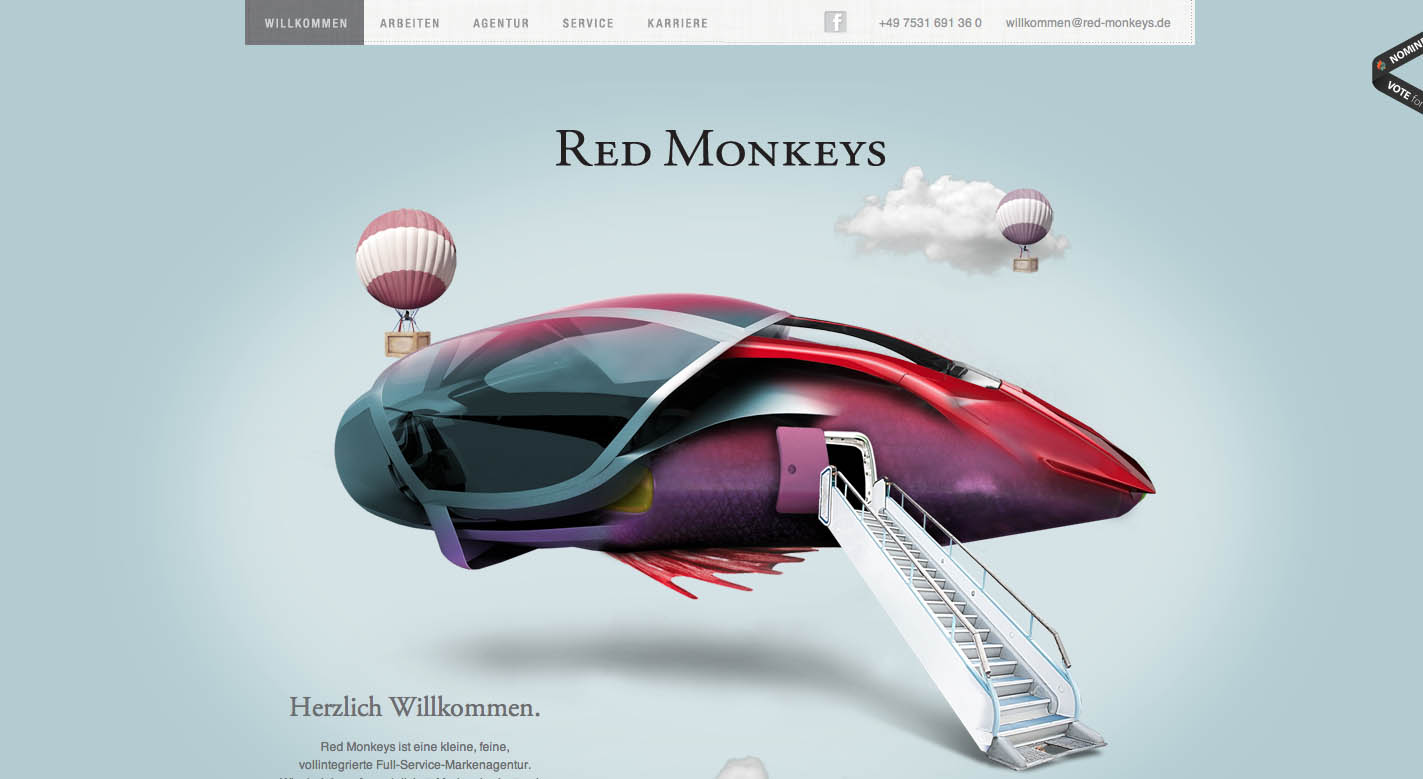 Red Monkeys Website Screenshot
