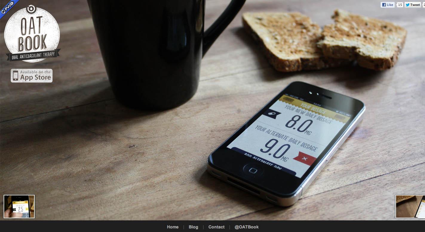 OATBook Website Screenshot