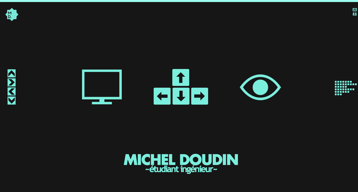 Michel Doudin Website Screenshot