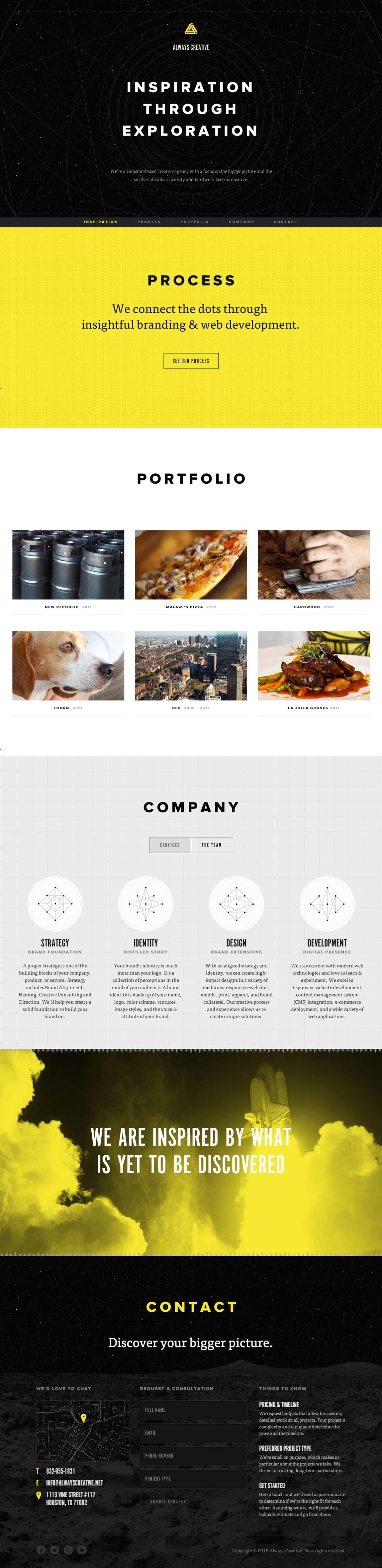 Always Creative Website Screenshot