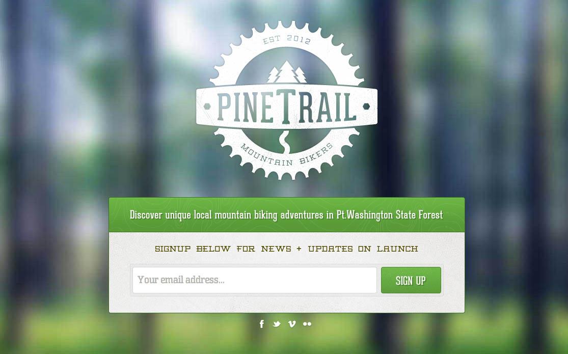 Pine Trail Mountain Bikers Website Screenshot