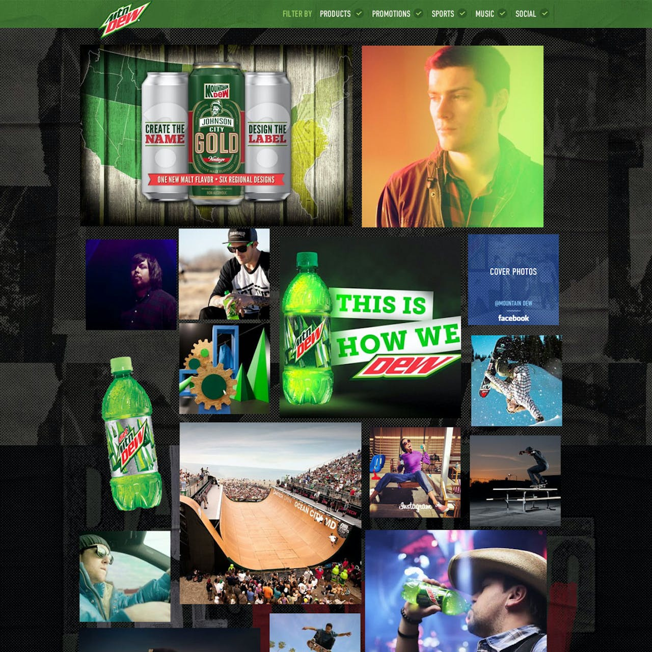 Mountain Dew Website Screenshot