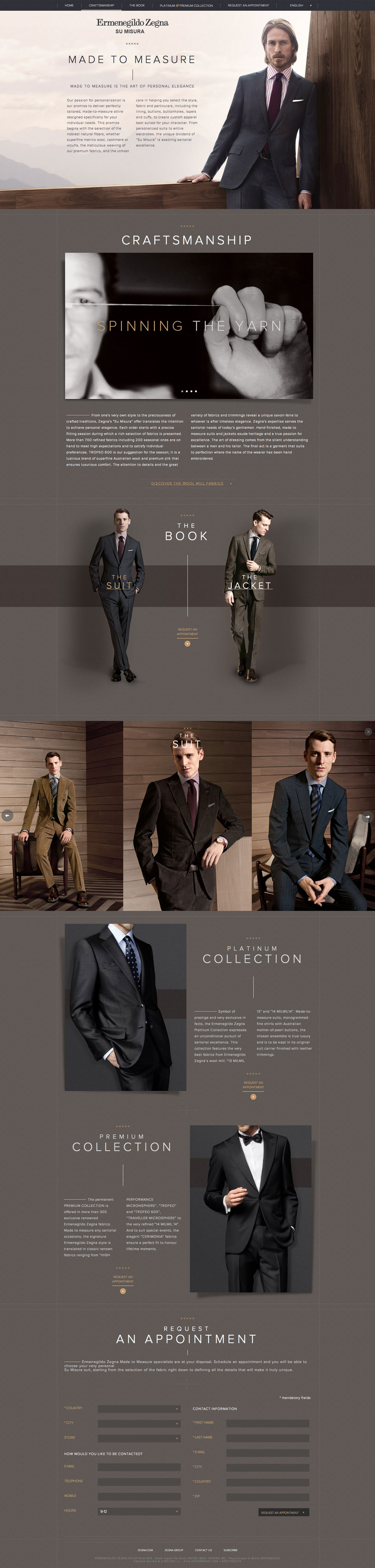 Su Misura – Ermenegildo Zegna Website Screenshot