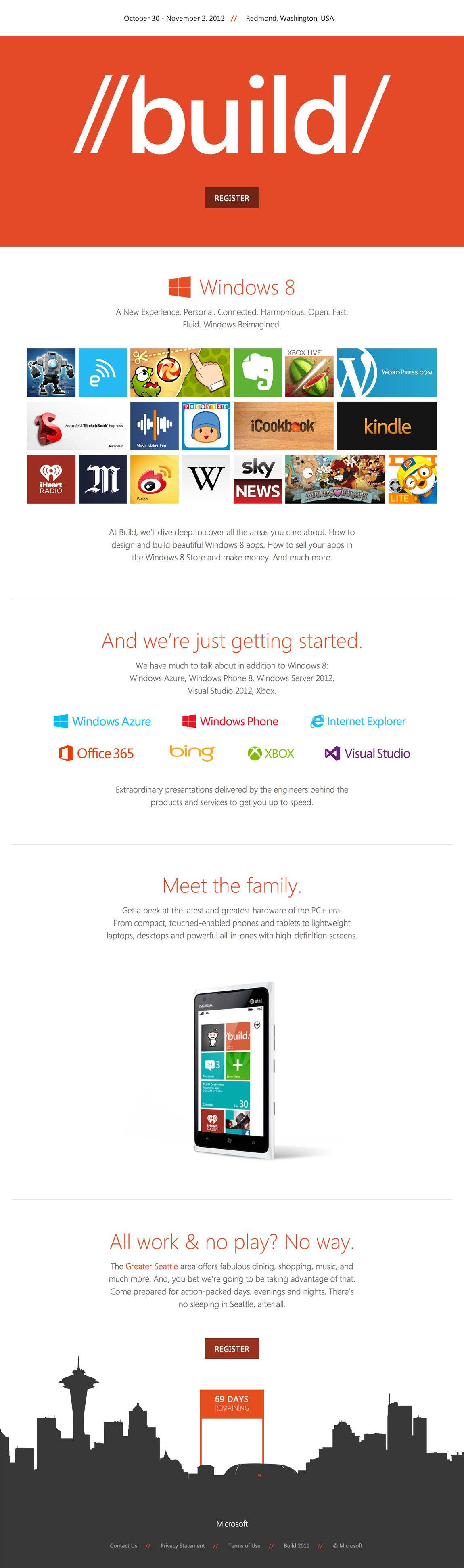 Build 2012 Website Screenshot