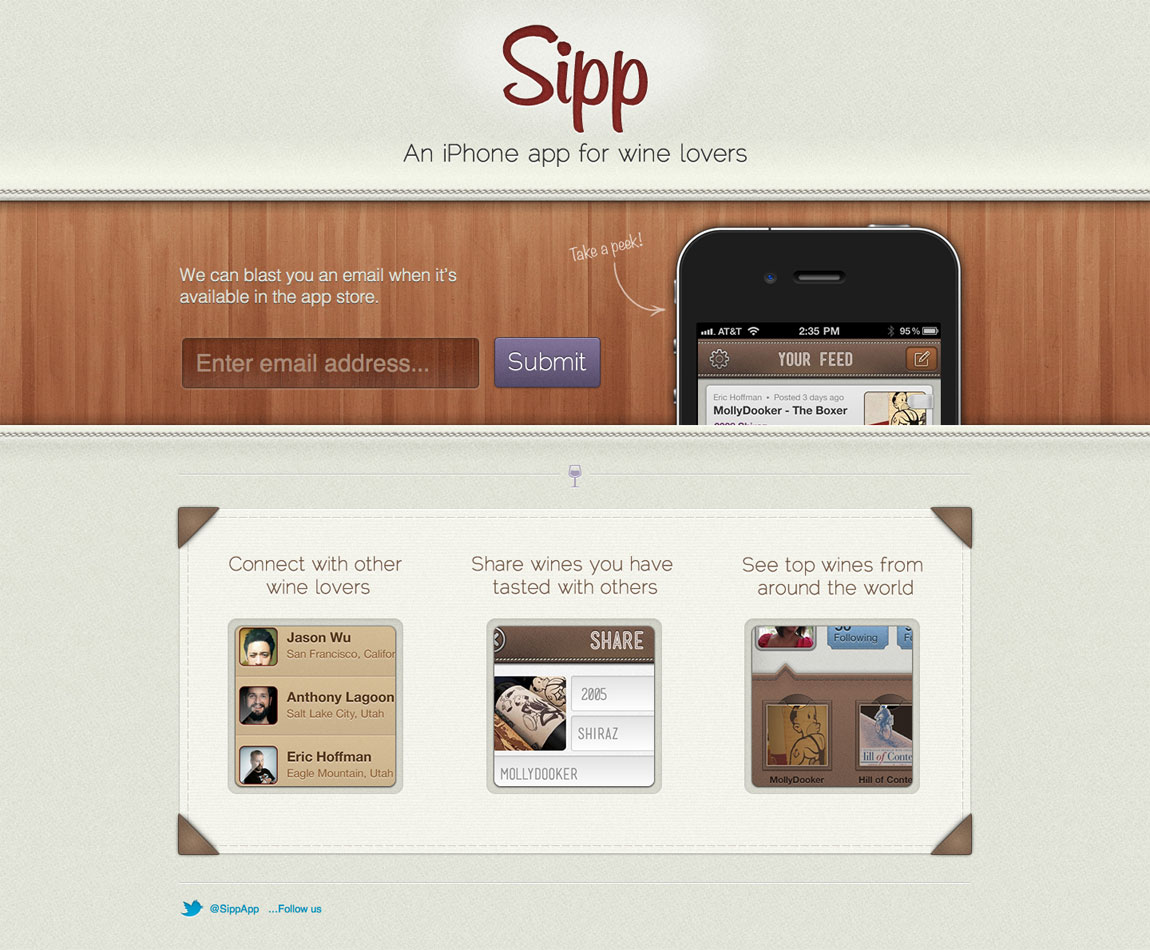 Sipp Website Screenshot