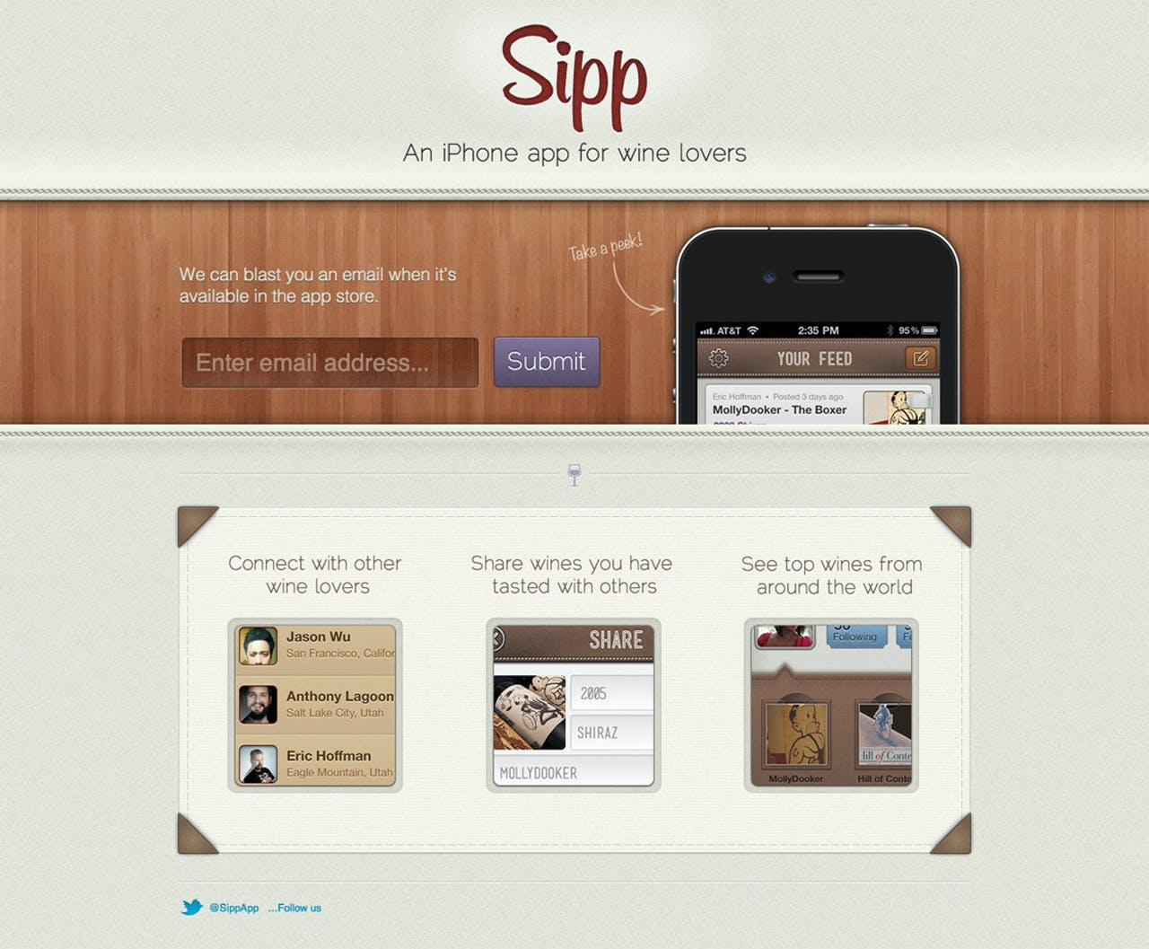 Sipp Website Screenshot