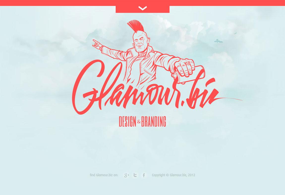 Glamour.biz Website Screenshot
