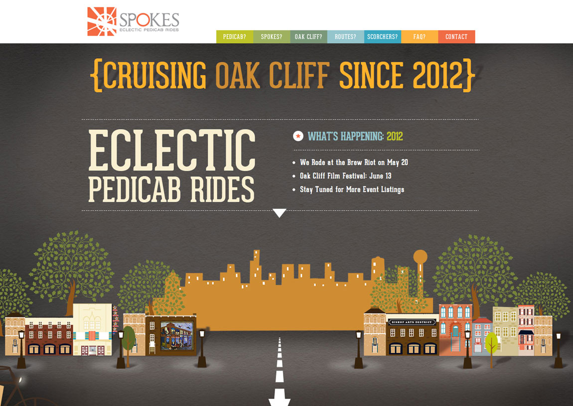 Spokes Pedicabs Website Screenshot