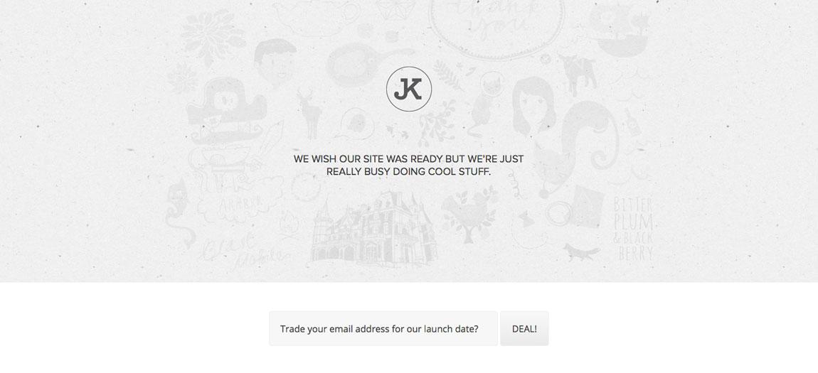 JKCollective Website Screenshot