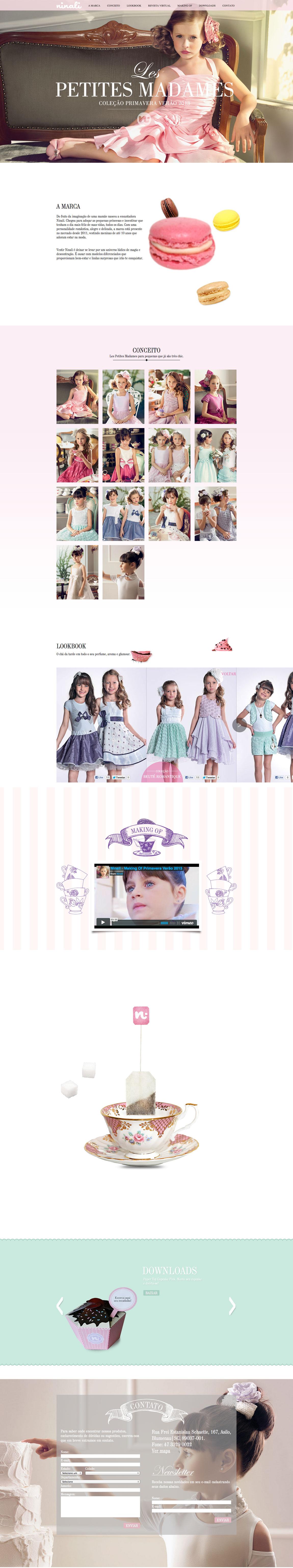 Ninali – Primavera Verão 2013 Website Screenshot