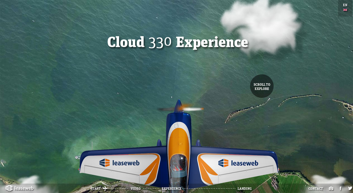 Cloud 330 Experience Website Screenshot