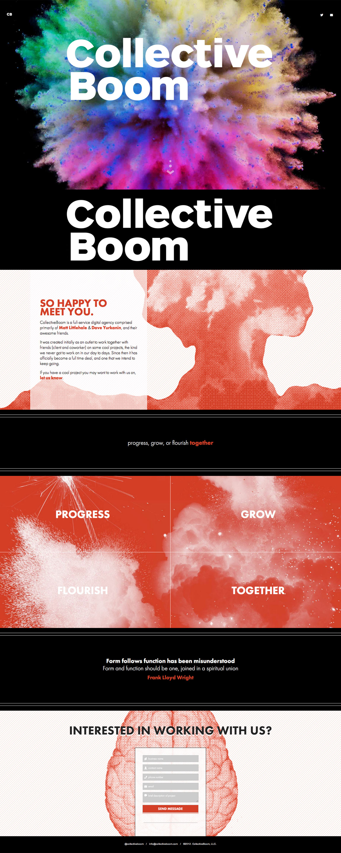 CollectiveBoom Website Screenshot