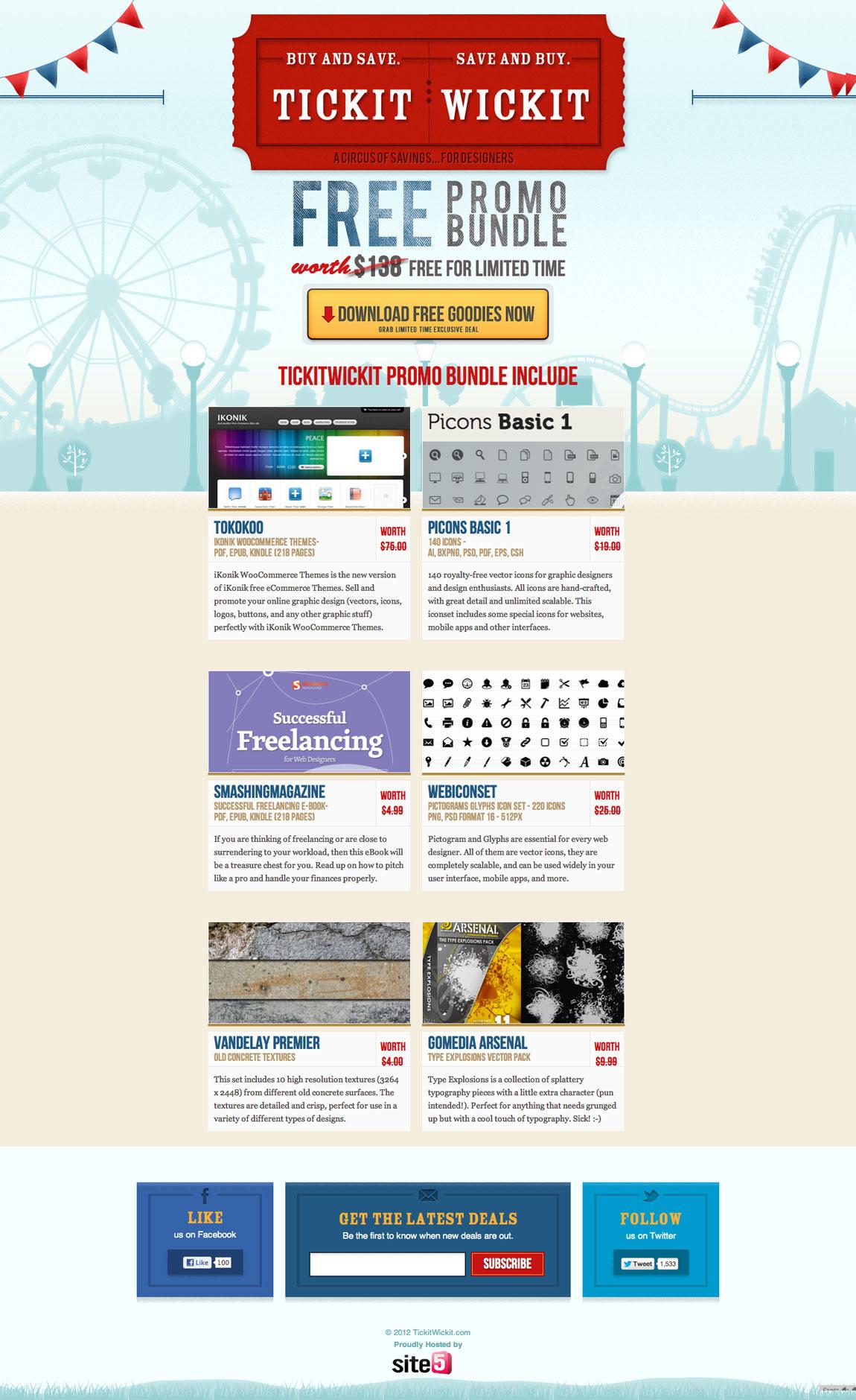 Tickit Wickit Website Screenshot