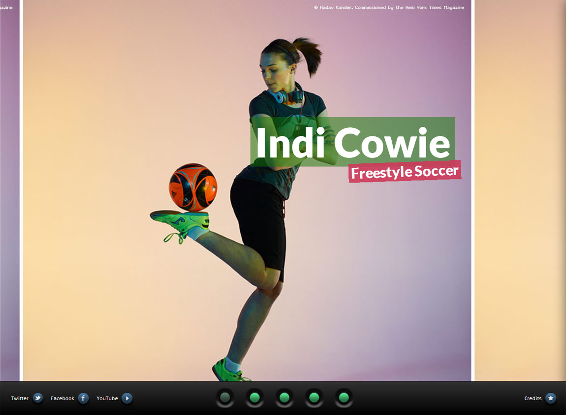 Indi Cowie Website Screenshot