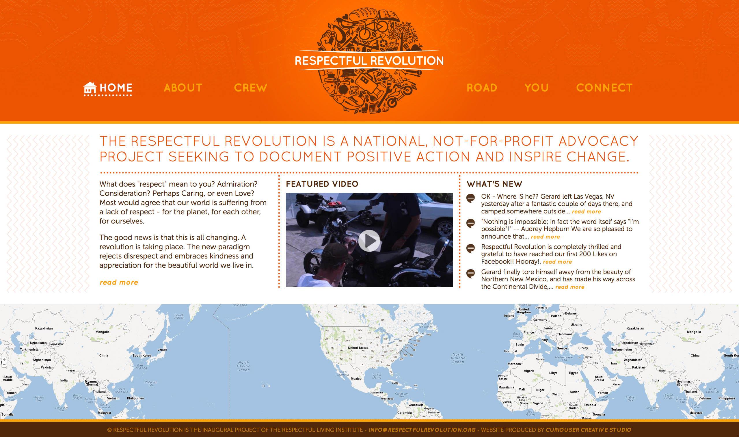 Respectul Revolution Website Screenshot