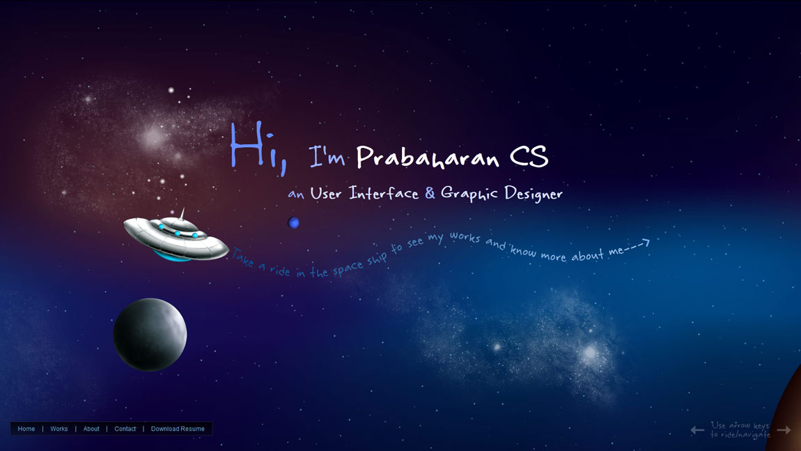 PrabaharanCS Website Screenshot