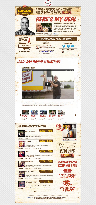Bacon Barter Website Screenshot