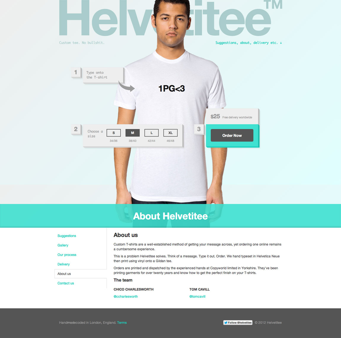Helvetitee Website Screenshot