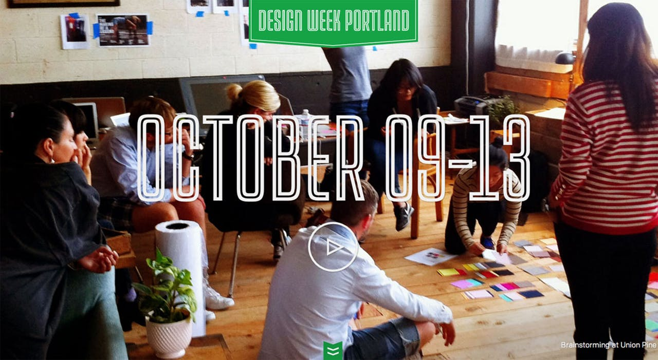 Design Week Portland Website Screenshot