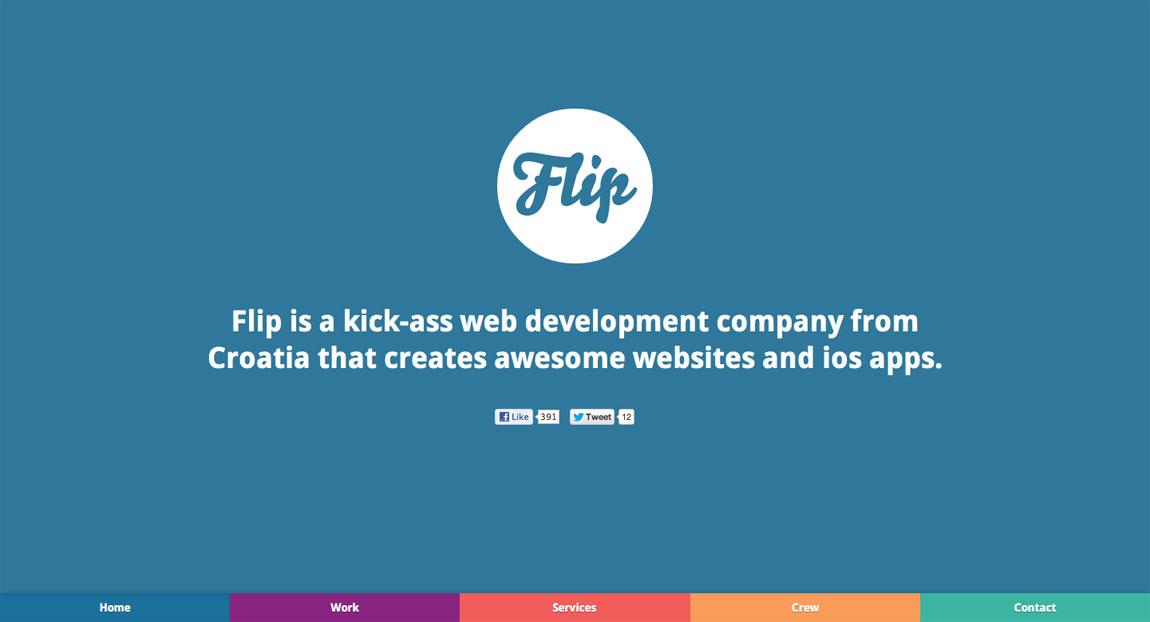 Flip Website Screenshot