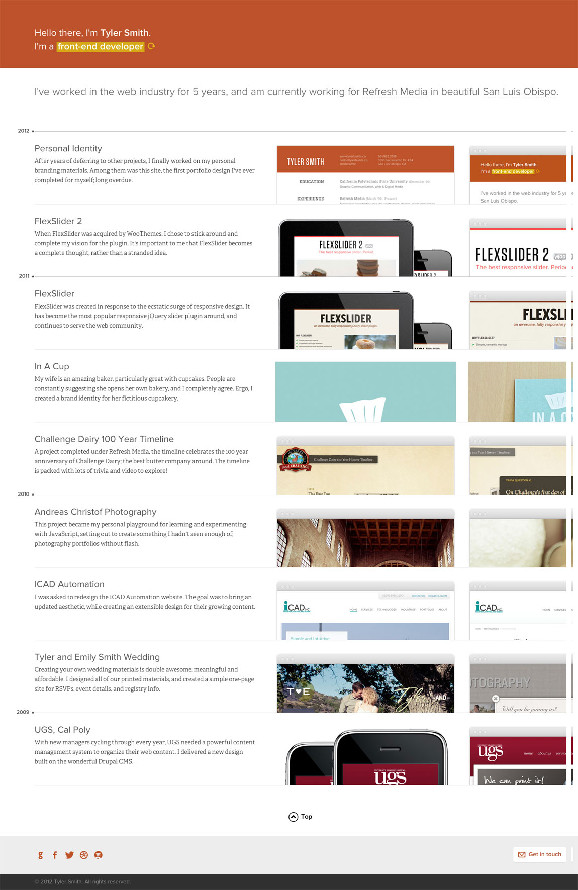 Tyler Smith Website Screenshot
