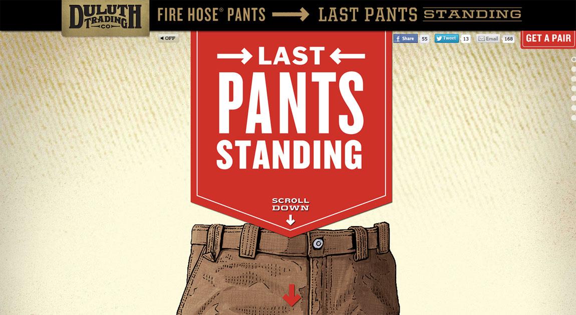 Last Pants Standing Website Screenshot