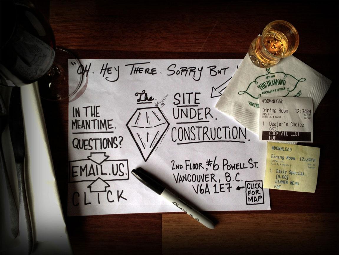 The Diamond Restaurant Website Screenshot