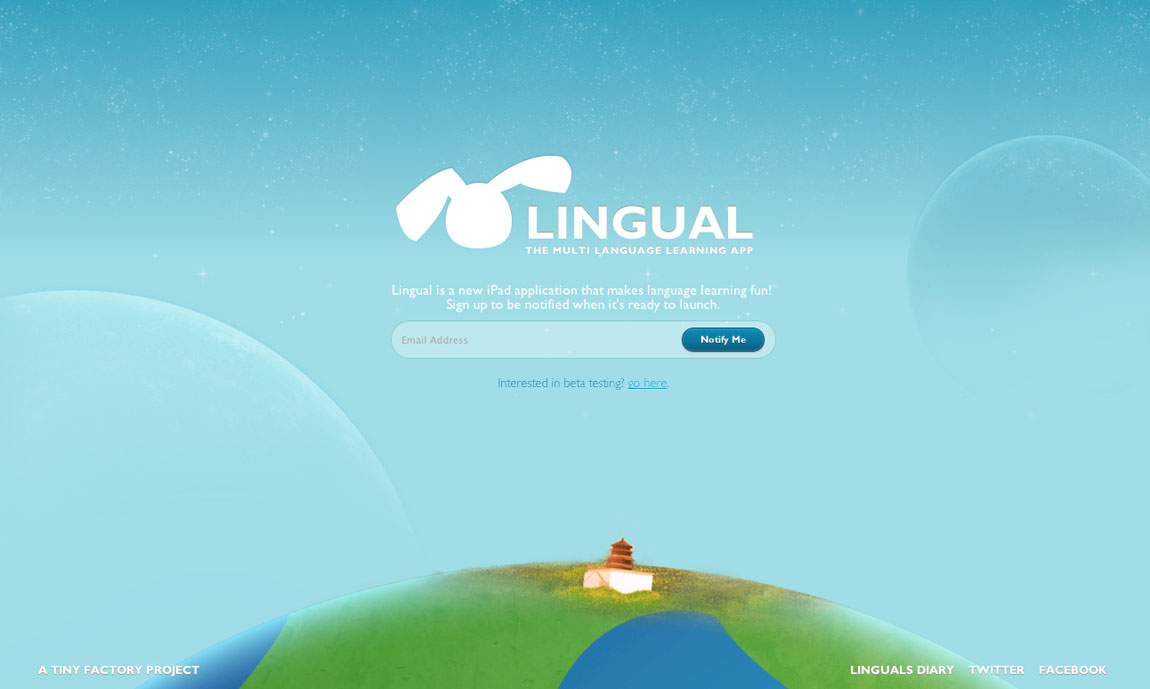 Catch Lingual Website Screenshot