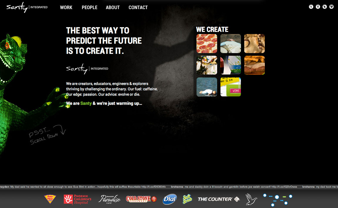 Santy Integrated Website Screenshot