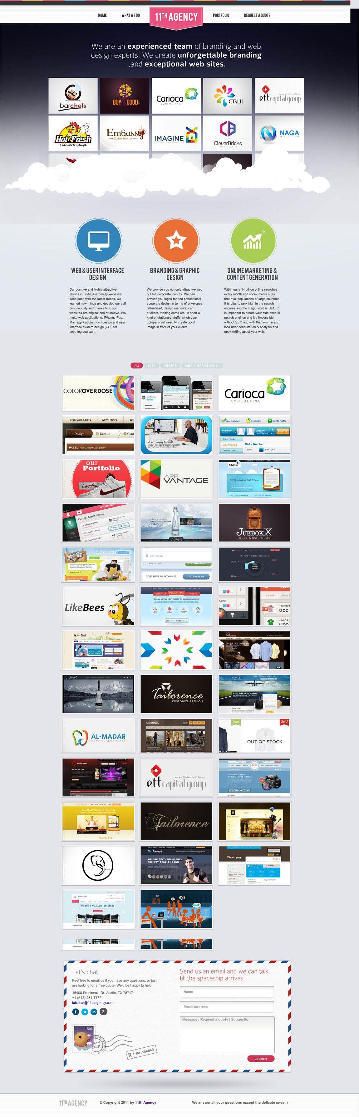 11th Agency Website Screenshot