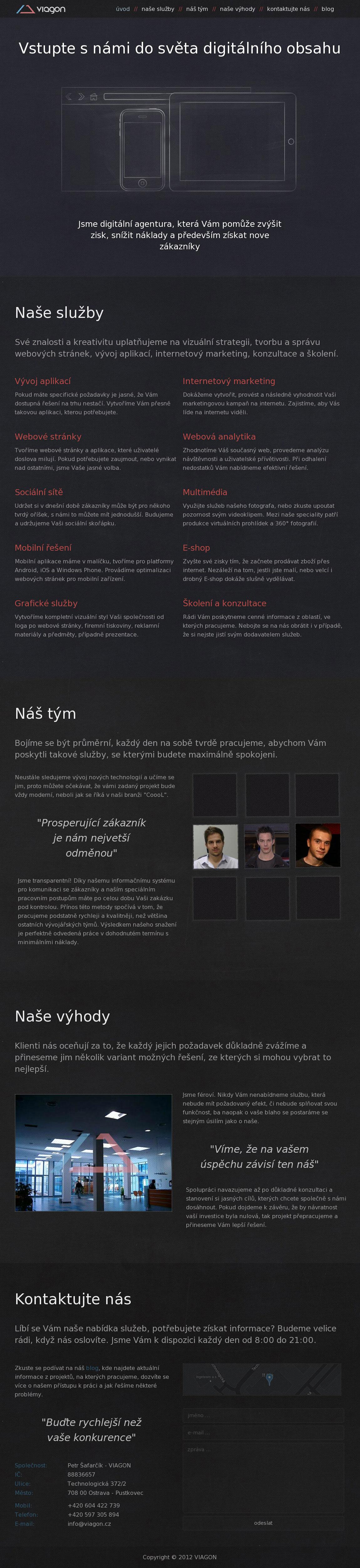 Viagon Website Screenshot
